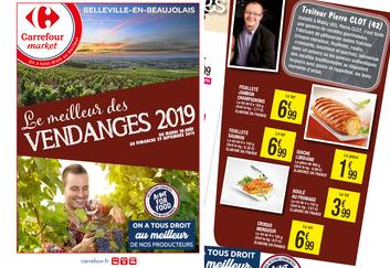 Pierre Clot chez Carrefour Market Belleville en Beaujolais